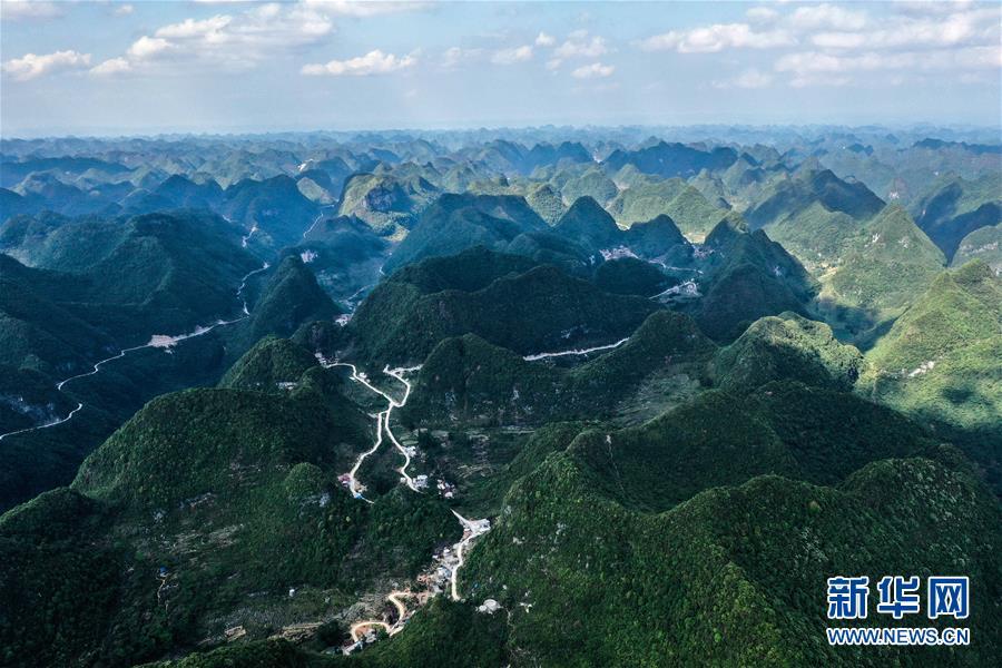飞阅广西大化七百弄国家地质公园